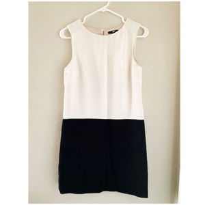 H&M sleeveless b&w dress